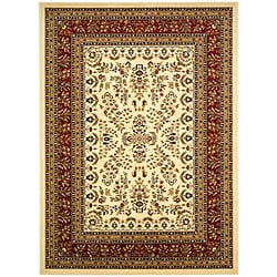 Safavieh Lyndhurst Collection Ivory/ Red Rug (5'3 x 7'6)