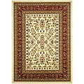 Lyndhurst Collection Ivory/ Red Rug (8' x 11')