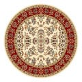 Lyndhurst Collection Ivory/ Red Rug (5' 3 Round)