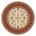 Lyndhurst Collection Ivory/ Red Rug (8' Round)