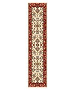 Safavieh Lyndhurst Collection Ivory/ Red Runner (2'3 x 8')