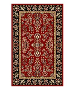 Safavieh Lyndhurst Collection Red/ Black Rug (5'3 x 7'6)