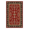 Lyndhurst Collection Red/ Black Rug (5'3 x 7'6)