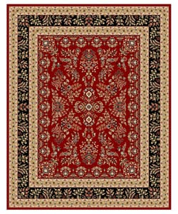 Lyndhurst Collection Red/ Black Rug (8' x 11')