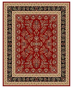 Safavieh Lyndhurst Collection Red/ Black Rug (8' x 11')