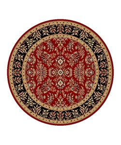 Safavieh Lyndhurst Collection Red/ Black Rug (5' 3 Round)