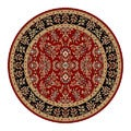 Lyndhurst Collection Red/ Black Rug (5' 3 Round)