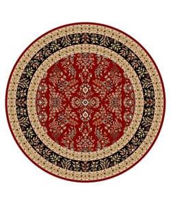 Safavieh Lyndhurst Collection Red/ Black Rug (8' Round)