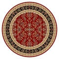 Lyndhurst Collection Red/ Black Rug (8' Round)