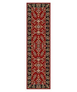 Lyndhurst Collection Red/ Black Runner (2'3 x 8')
