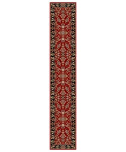Lyndhurst Collection Red/ Black Runner (2'3 x 12')