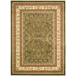 "Lyndhurst Collection Oriental Sage/Ivory Rug (5'3"" x 7'6"")"