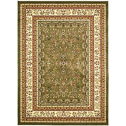 Lyndhurst Collection Sage/ Ivory Rug (8' x 11')