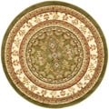 Lyndhurst Collection Sage/ Ivory Rug (5' 3 Round)