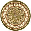 Lyndhurst Collection Large Sage/Ivory Rug (8' Round)