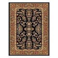 Lyndhurst Collection Black/ Tan Rug (3'3 x 5'3)