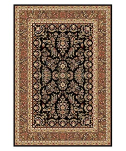Lyndhurst Collection Black/ Tan Rug (5'3 x 7'6)