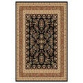 Lyndhurst Collection Black/ Tan Rug (8' x 11')