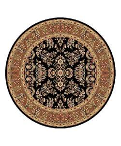 Safavieh Lyndhurst Collection Black/ Tan Rug (5' 3 Round)