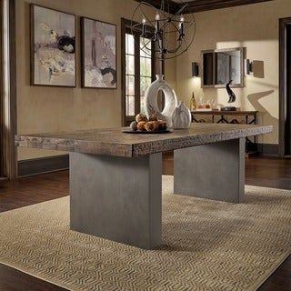 Blake Reclaimed Wood and Concrete Dining Table by iNSPIRE Q Artisan