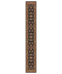 Safavieh Lyndhurst Collection Black/ Tan Runner (2'3 x 12')