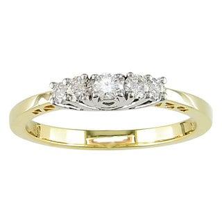 Miadora 14k Gold 1/4ct TDW Round Diamond Five-stone Ring (H-I, I1-I2)