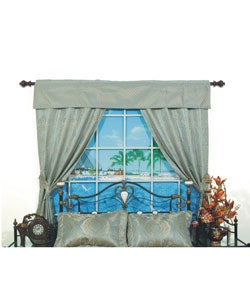 San Marino Pole Top 84-inch Window Set