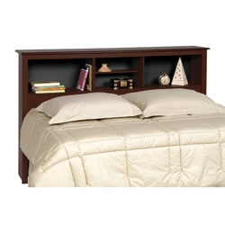 Everett Espresso Full/Queen Bookcase Headboard