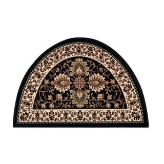 """Perfection Collection Hearth Rug Mersin Black - 2'2"""" x 3'3"""""""