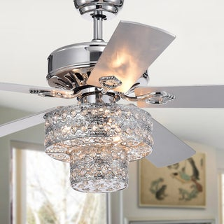 Empire Un 5-Blade Silver Chandelier Ceiling Fan 52-Inch (Pull Chain or Optional Remote)