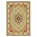 Lyndhurst Collection Sage/ Ivory Rug (5'3 x 7'6)
