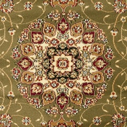 Lyndhurst Collection Sage/ Ivory Rug (8' Round)