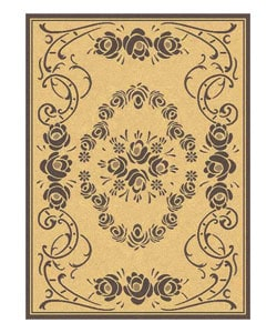 Safavieh Indoor/ Outdoor Garden Natural/ Brown Rug (4' x 5'7)