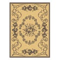 Indoor/ Outdoor Garden Natural/ Brown Rug (7'10 x 11')