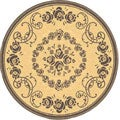Indoor/ Outdoor Garden Natural/ Brown Rug (5'3 Round)
