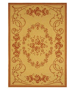 Safavieh Indoor/ Outdoor Garden Natural/ Terracotta Rug (4' x 5'7)