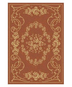 Safavieh Indoor/ Outdoor Garden Terracotta/ Natural Rug (4' x 5'7)