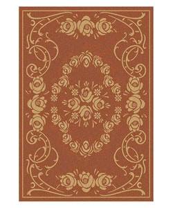 Indoor/ Outdoor Garden Terracotta/ Natural Rug (5'3 x 7'7)