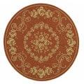 Safavieh Indoor/ Outdoor Garden Terracotta/ Natural Rug (6'7 Round)