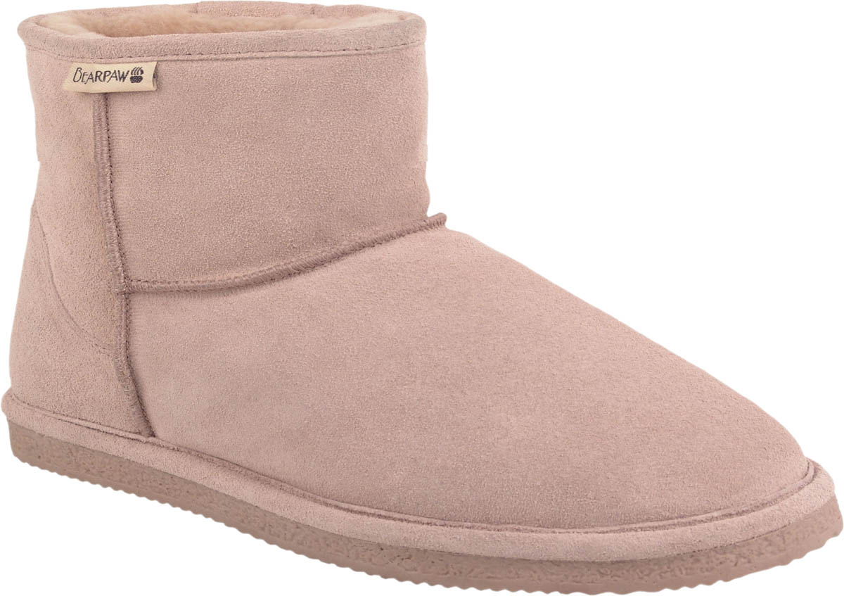BearPaw Women's Suede 6-inch Shearling Lined Boots