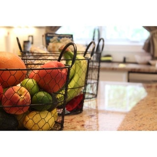 3-Piece Round Metal Wire Nesting Basket Set by Handcrafted 4 Home