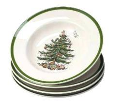 Spode 'Christmas Tree' Soup Plates (Set of 4)