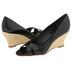 Franco Sarto Fresh Black Patent Pumps/Heels