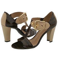 Franco Sarto Detract2 Tobacco Croc Sandals