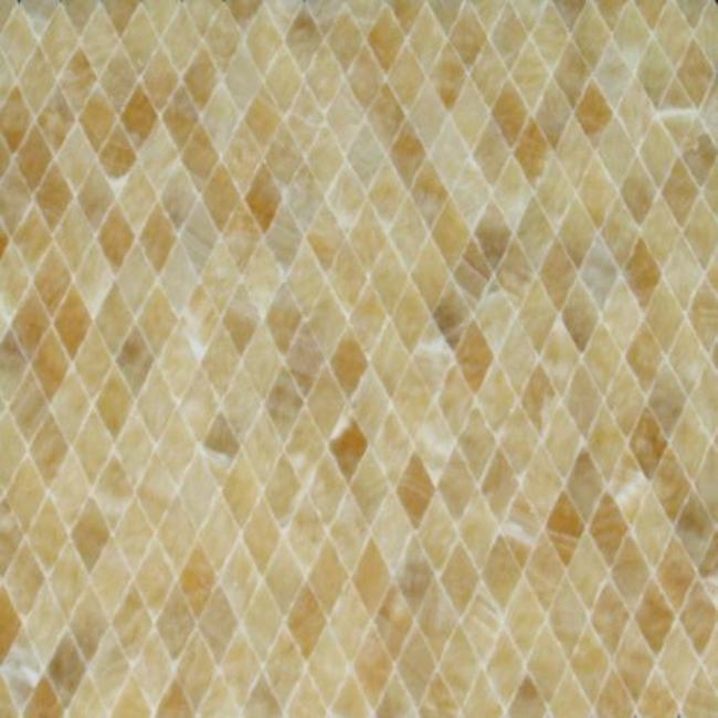 honey onyx diamond pattern mosaic tiles set of 5