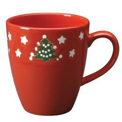 Waechtersbach Jumbo Caffe Latte Christmas Tree Mugs (Set of 4)