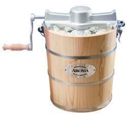 Aroma 6 Quart Natural Wood Barrel Ice Cream Maker