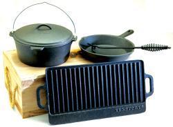 Texsport 5-piece Cast Iron Cookware Kit