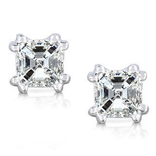 Annello 14k White Gold 3/4ct TDW Diamond Stud Earrings (H-I, SI1-SI2)
