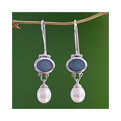 Pearl and Opal Harmony Earrings (Bali)